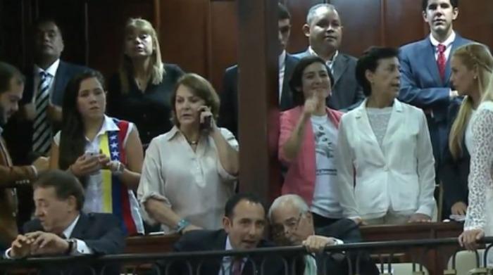 Mitzy Capriles, Lilian Tintori y Patricia de Ceballos dijeron presente en hemiciclo de la AN
