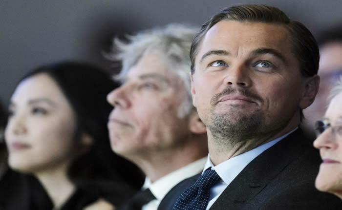 DiCaprio, premiado en Davos por su lucha contra el cambio climático
