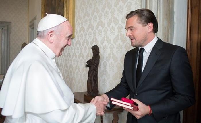 Papa Francisco y Leonardo DiCaprio