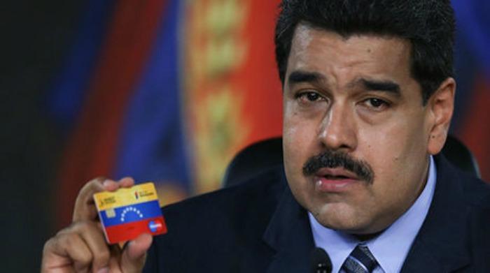 Puntos para raspar la tarjeta socialista de Maduro