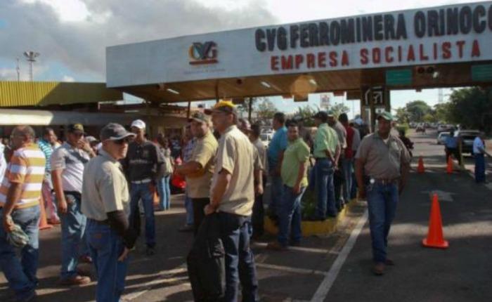 Paro en Ferrominera Orinoco por incumplimiento en pago de deudas