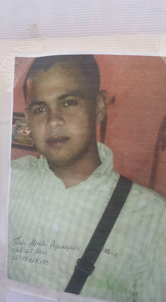 Jesús Alfredo Aguinalde (25 años), desaparecido entre los mineros