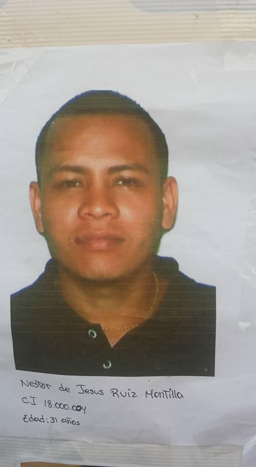 Nestor De Jesús Ruiz Montilla (31 años), desaparecido en Tumeremo