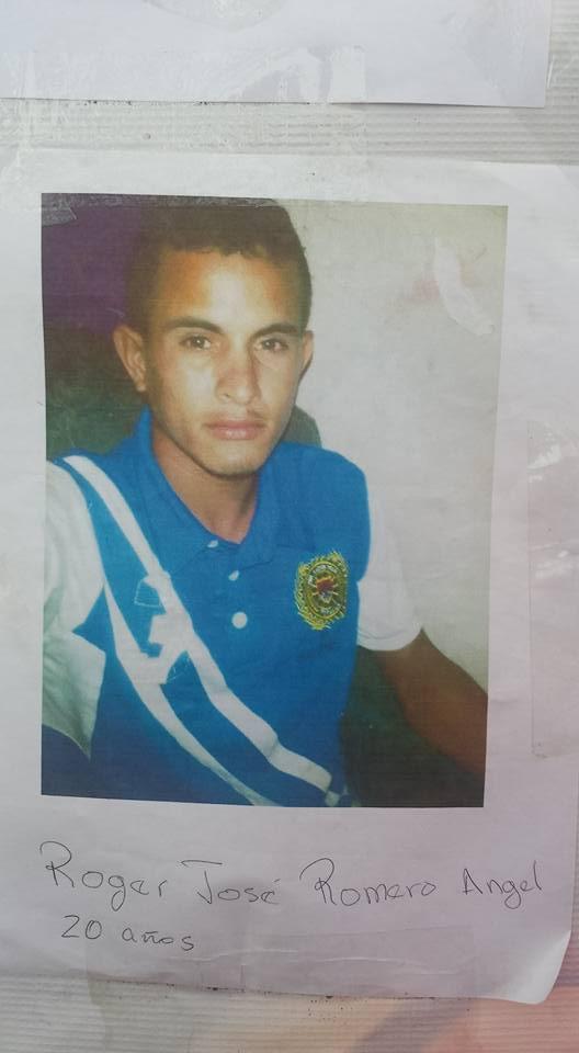 Roger José Romero Angel (20 años)