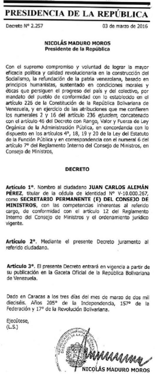 GacetaJuanCarlosAlemán