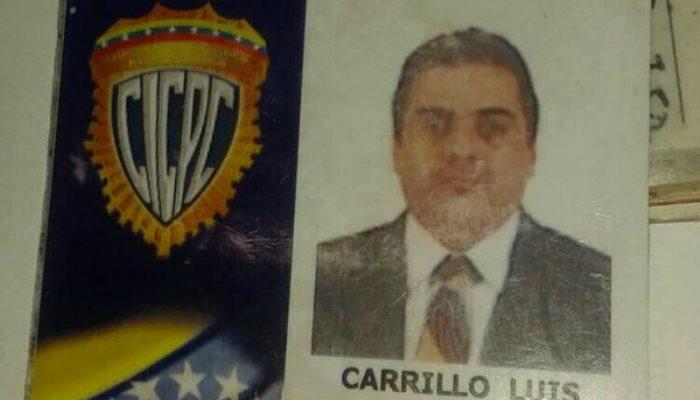Inspector jefe Cicpc Luis Carrillo