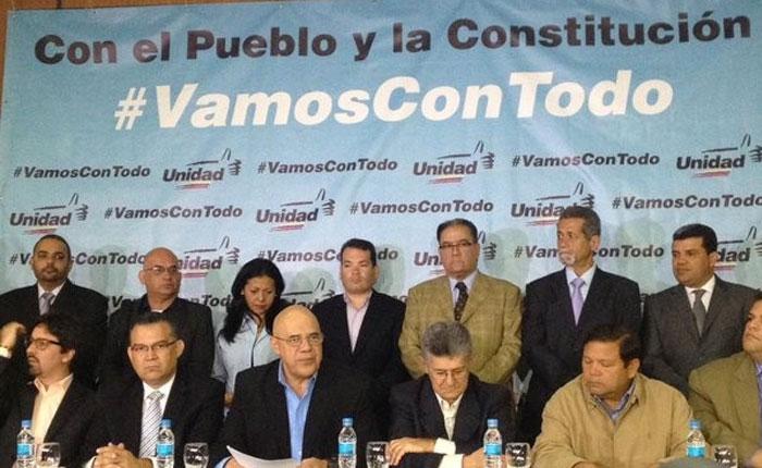 MUD confirma que activará todas las vías constitucionales para el cambio de gobierno
