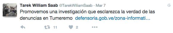 Twitter, Tarek W. Saab