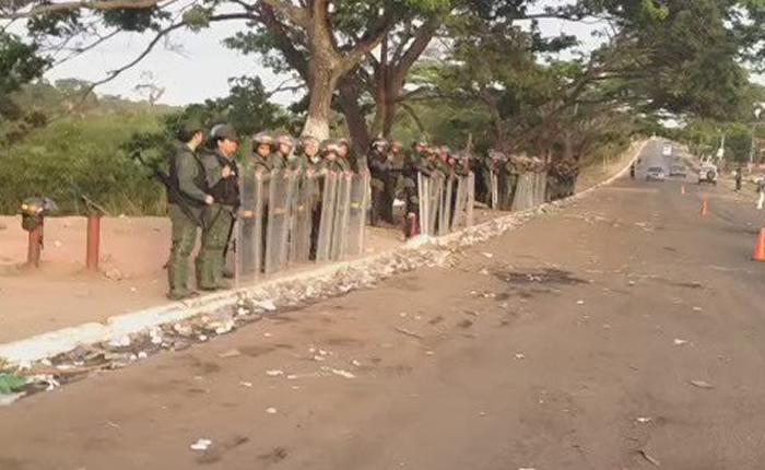 protesta dispersada en Tumeremo