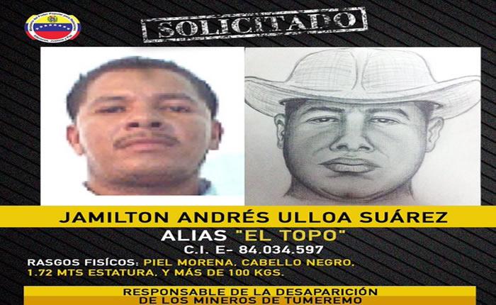 """Jamilton Andrés Suárez Ulloa, Alias """"El Topo"""""""