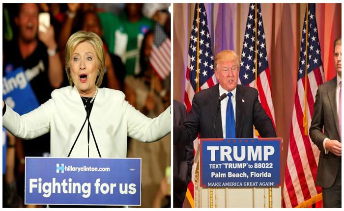La demócrata Hillary Clinton y el republicano Donald Trump se consolidaron hoy como favoritos para ser los candidatos a la Casa Blanca con sus grandes victorias del supermartes