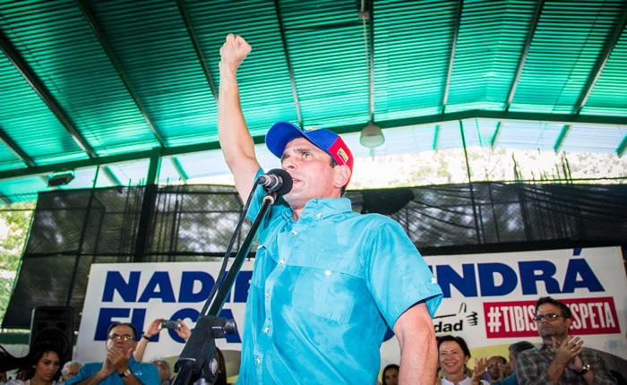 Capriles: Llamo al país a desconocer el decreto de estado de excepción