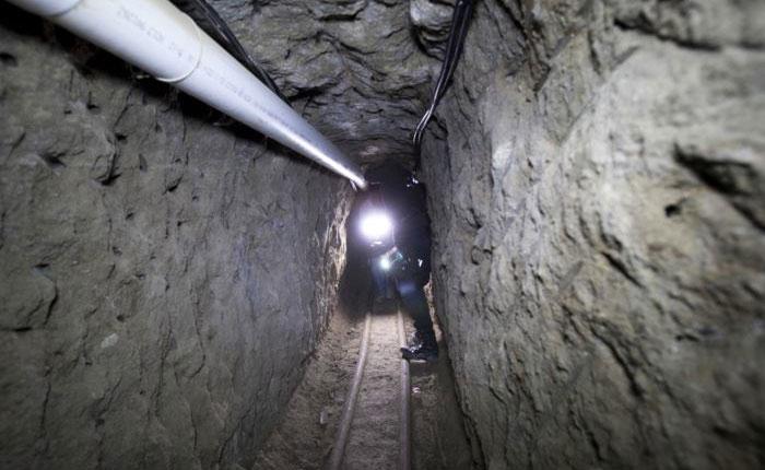 Descubren el túnel de droga más largo entre México y California