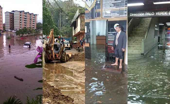 Lo que la lluvia se llevó en menos de 24 horas