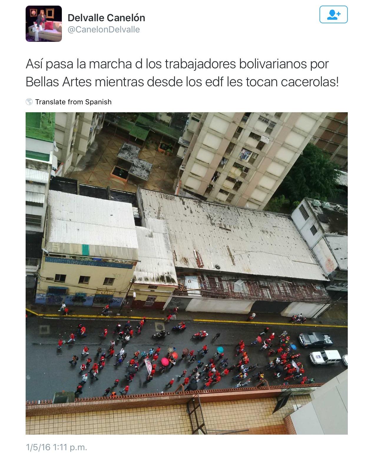 Canelón Del Valle, Twitter