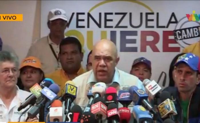"""MUD ante suspensión de reunión con Poder Electoral: """"CNE promueve la violencia"""""""