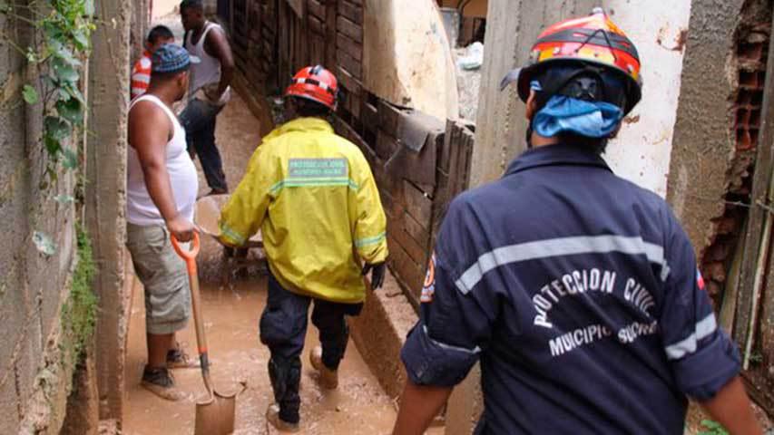Lluvias afectaron 24 de viviendas en el municipio Sucre