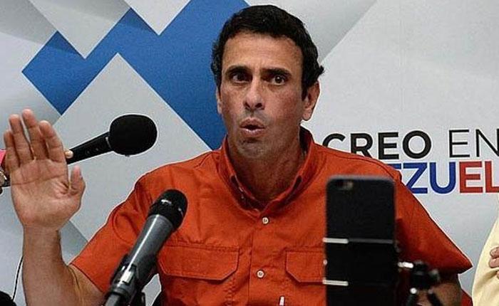 Henrique Capriles denuncia que su firma fue excluida del proceso de validación