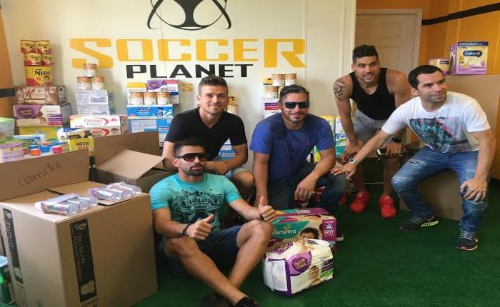 Jugadores de la Vinotinto en Miami recogieron insumos para hospitales de Venezuela
