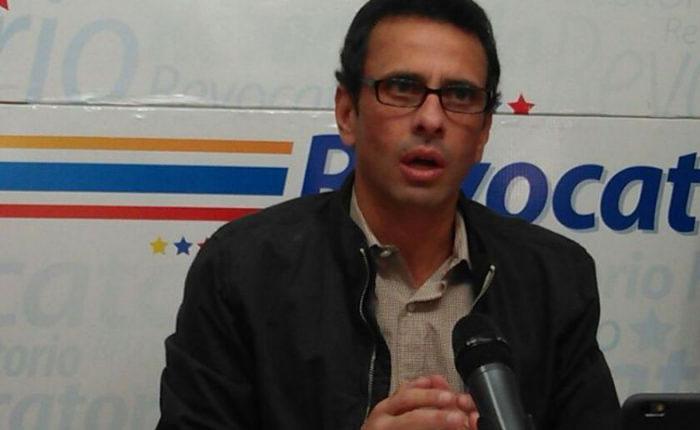 Capriles: Marcharemos todos los días si es necesario para que el CNE inicie el proceso del revocatorio