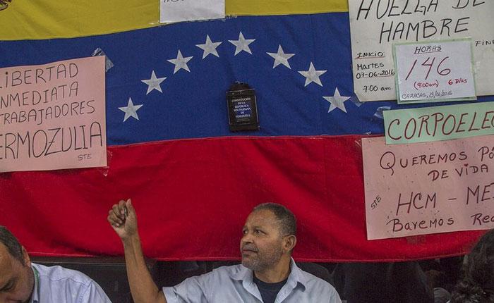 Trabajadores de Corpoelec llevan más de 140 horas en huelga de hambre