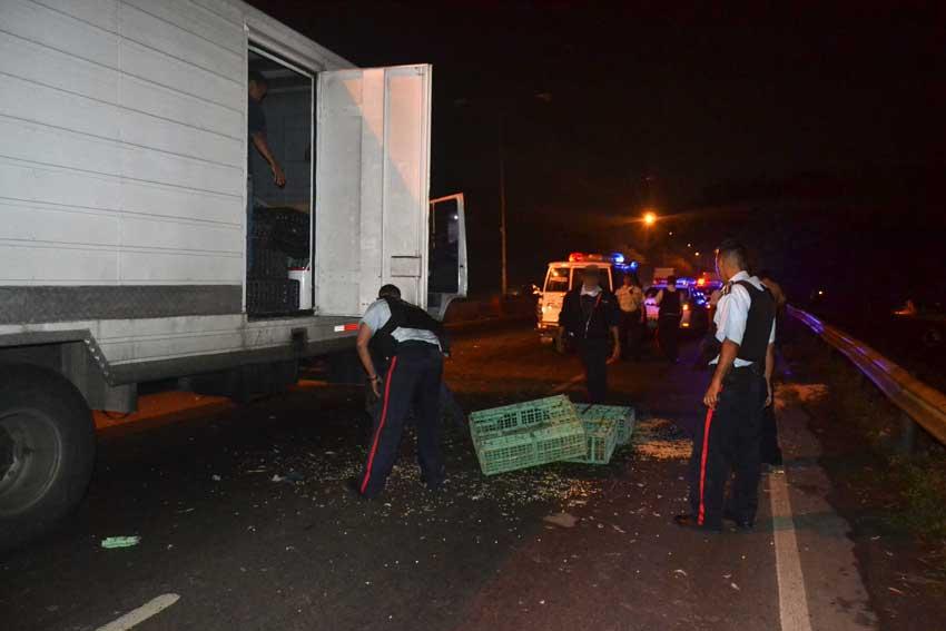 Robaron camión de pollos en el distribuidor Aranzazu de Valencia