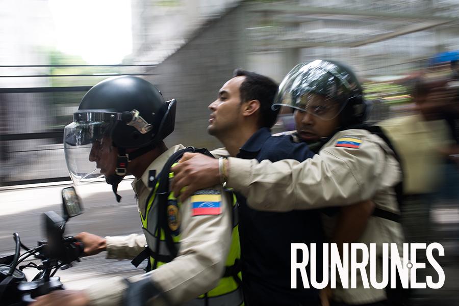 Protesta de oposicion Venezolana.