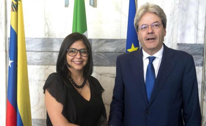 Italia apoya mediación en Venezuela de los expresidentes
