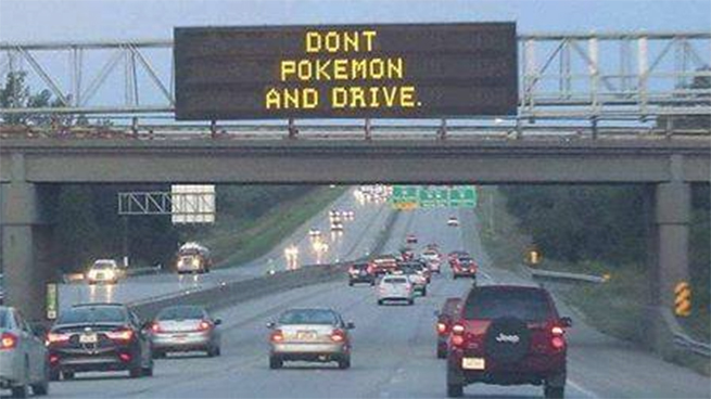 Don't Pokemon and Drive warning