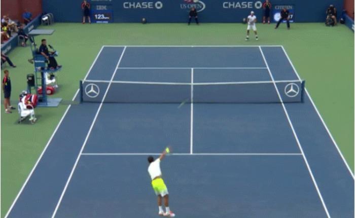 VIDEO Imagina una pelota de tennis a 200 km/h, ahora imagínatela en tus testículos … Pasó en el US Open