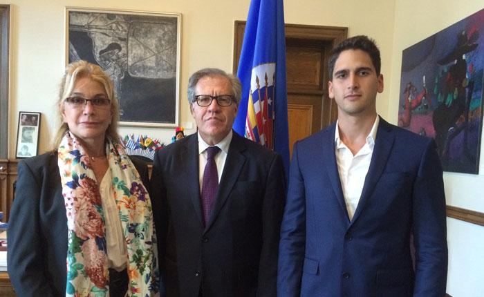 Familiares del periodista Braulio Jatar se reunieron con Luis Almagro