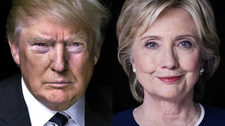 Resultado de imagen para hillary clinton y donald trump