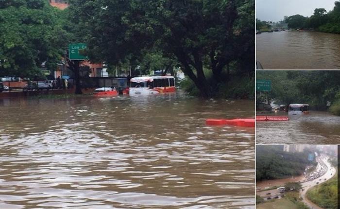 [FOTOS] Lluvias colapsaron varias zonas de Caracas este #7S