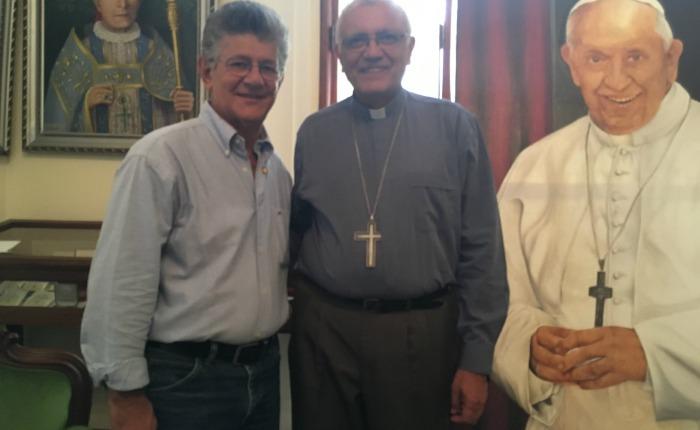 Ramos Allup visitó al cardenal Baltazar Porras