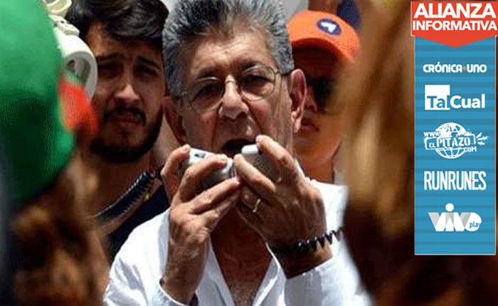 Ramos Allup: El 3-N iremos a Miraflores a informarle a Maduro su abandono de cargo