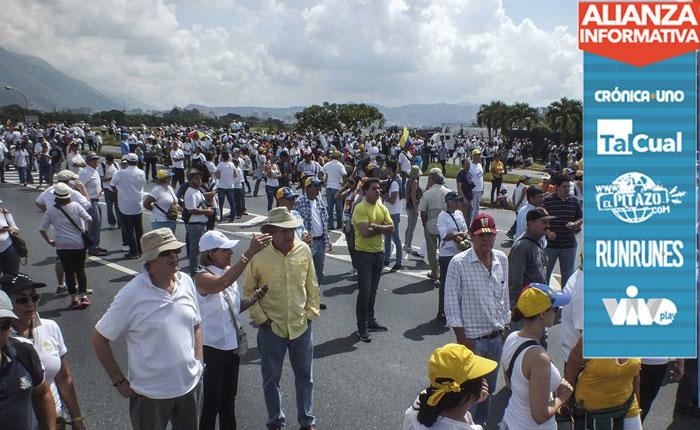 FOTOS | Así va la Toma de Venezuela en Caracas