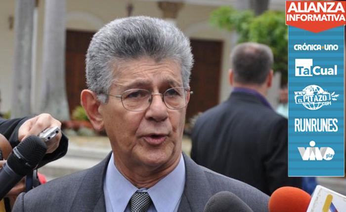 Ramos Allup se reunió con Aldo Giordano y Martín Torrijos