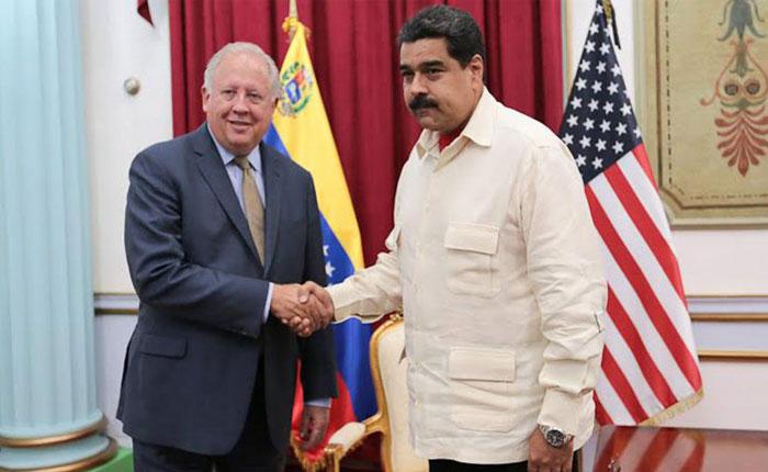 Maduro se reunión con Shannon, Zapatero y representante del Vaticano en Miraflores