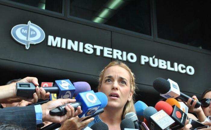 Lilian Tintori denunció represalias contra López ante el Ministerio Público