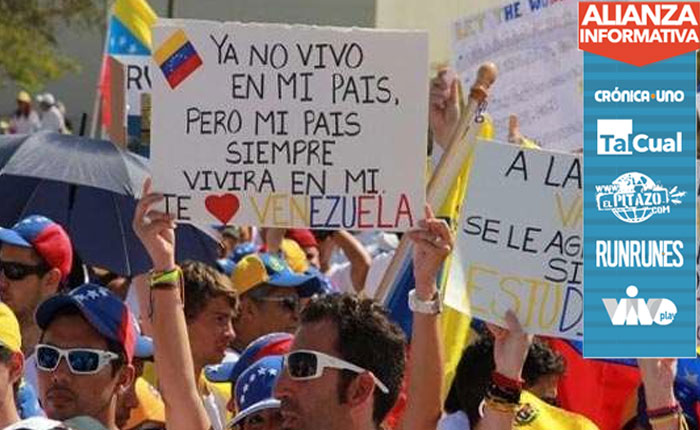 Venezolanos en el exterior se unen a la Toma de Venezuela