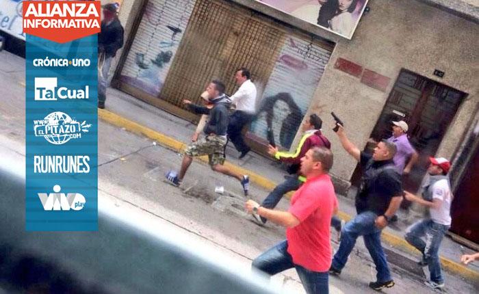 Videos| Colectivos repitieron patrón represivo de 2014 durante la Toma de Venezuela