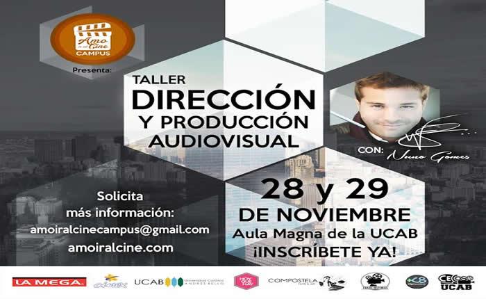 Amo ir al cine invita a un taller de dirección y producción audiovisual con Nuno Gomes