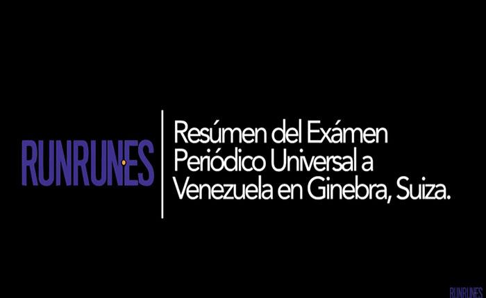 Resumen del Examen Periódico Universal a Venezuela