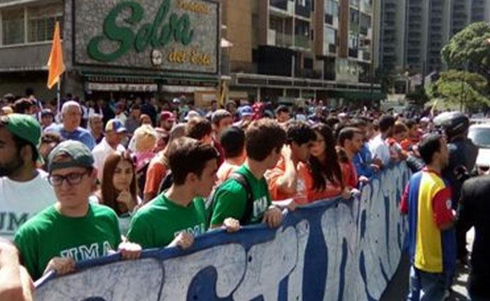 Marcha de estudiantes de este domingo saldrá desde Chacao con destino incierto