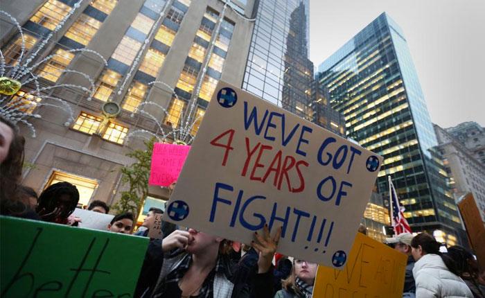 Protestas en varias ciudades de EE UU tras triunfo de Trump