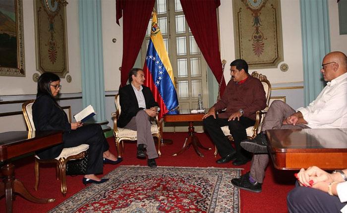 Maduro se reunió con Zapatero en Miraflores