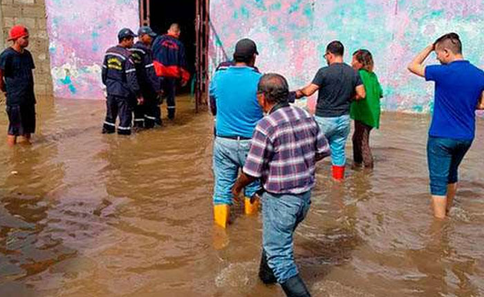 Lluvias en el interior del país dejaron dos fallecidos y más de 800 personas afectadas