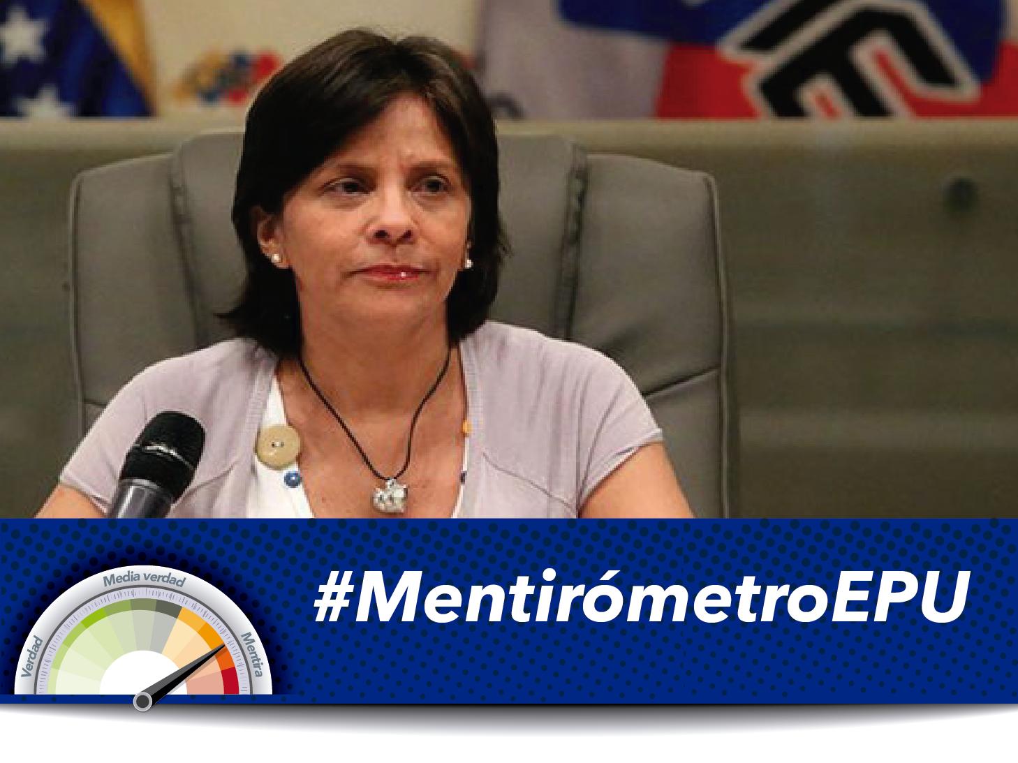 #Mentirómetro La rectora Sandra Oblitas también echó sus cuentos en el EPU 2016
