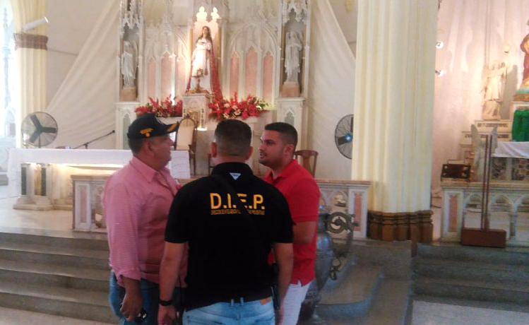 Robaron tres coronas de la Iglesia de Santa Lucía en Maracaibo