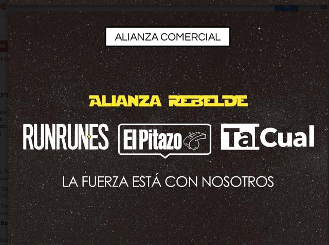 Alianza Rebelde permitirá anunciar en tres portales al mismo tiempo
